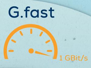 Datenraten von 1 GBit/s auf existierenden Kupferleitungen mit G.fast