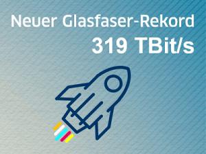 Neuer Glasfaser-Rekord: 319 TBit/s